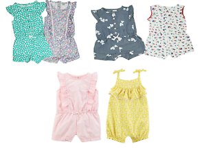New-Carter-039-s-Baby-Girls-039-2-Pack-Romper-Set-Variety