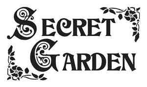 secret garden signs, flower/garden stencil**secret garden**for primitive signs vintage, Design ideen