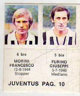 FIGURINA GOAL CREMA 1976//77-MILAN-PAG 9-BET 18 bis-MORINI 17 bis