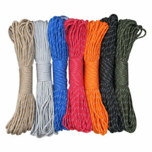 Paracord 550 Parachute Cord Lanyard Rope Mil Spec 100FT Survival Rope  *DC