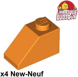 Lego 4x slope brique pente inclinée 45 2x1 orange 3040 NEUF