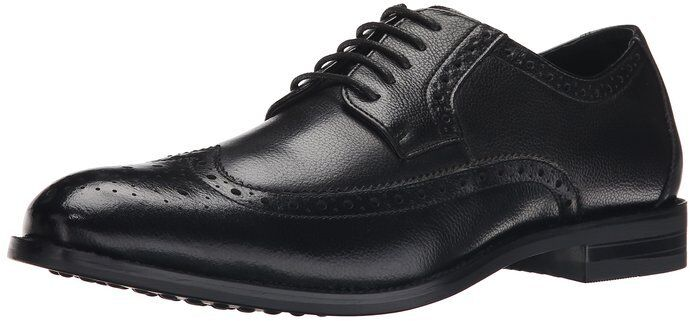 Stacy Adams Men's Garrick Wing Tip Black Tumbled Leather Dress shoes 24995-007