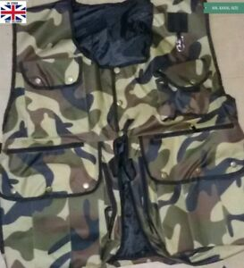 New-Falconry-Hunting-amp-Hawking-Waistcoat-XXL-amp-XXXL-Sizes-Commando-Full-Vest