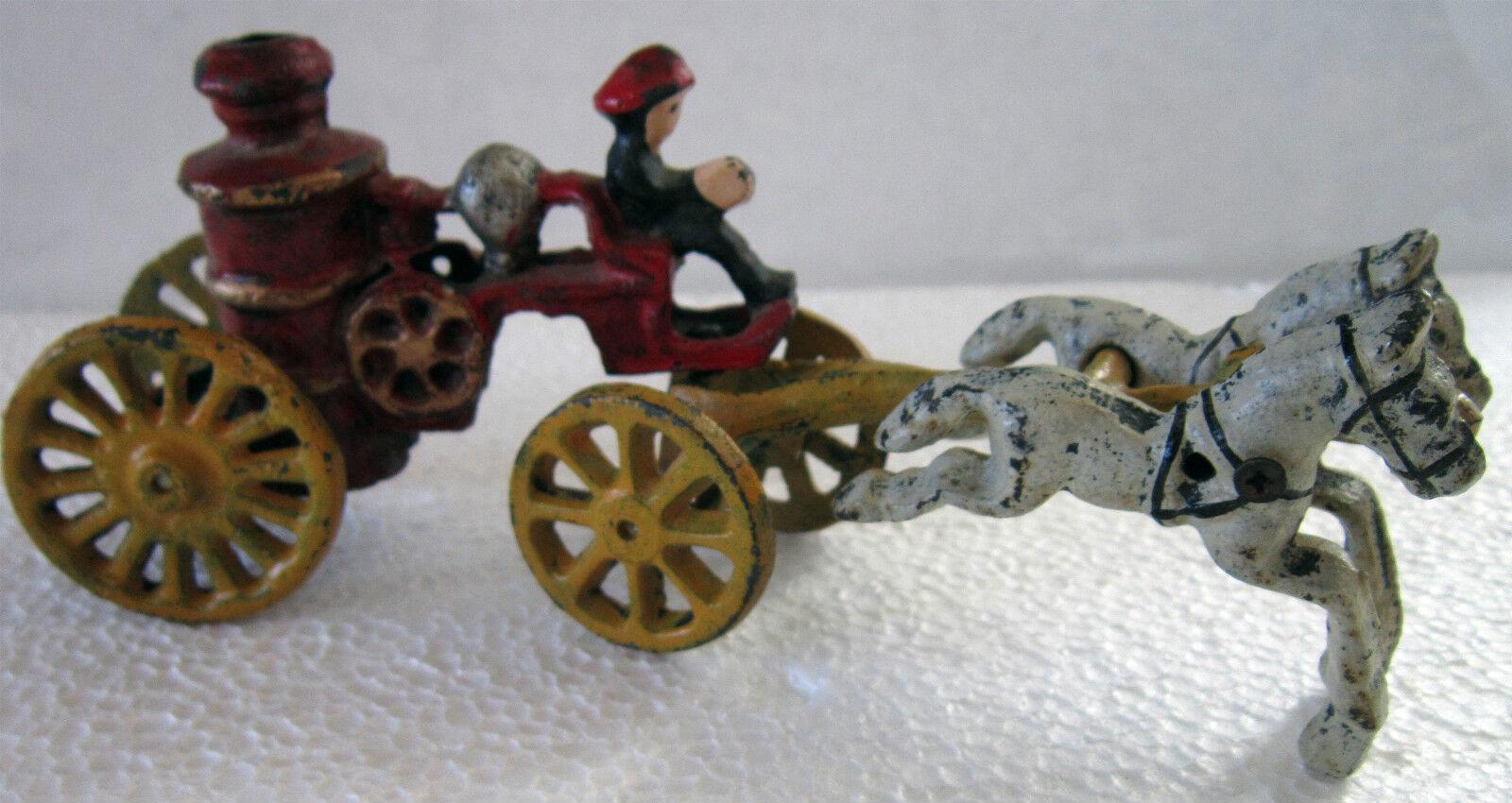 Kast Iron Fire Steamer med hästjärna