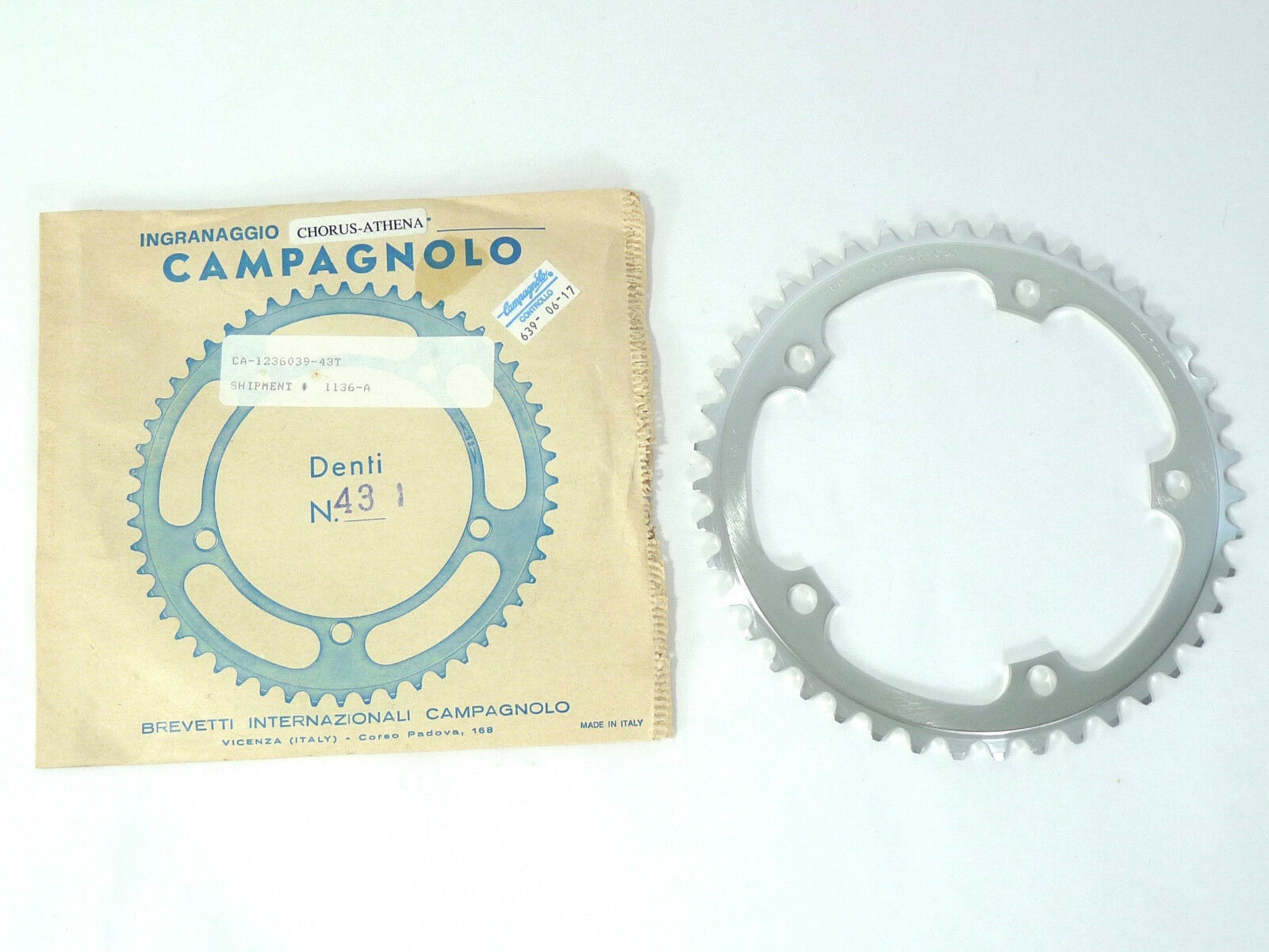 Campagnolo  Chorus Chainring 43T Road 135Bcd As 6 7 8 9 Speed Fit RECORD NOS  get the latest
