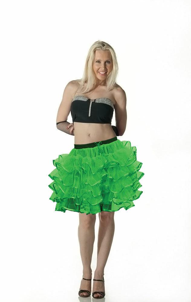 5 Couches Vert Tutu Jupe Mini Courte Nouveau Dernier Royaume-uni Soirée Robe Fantaisie Accessoire