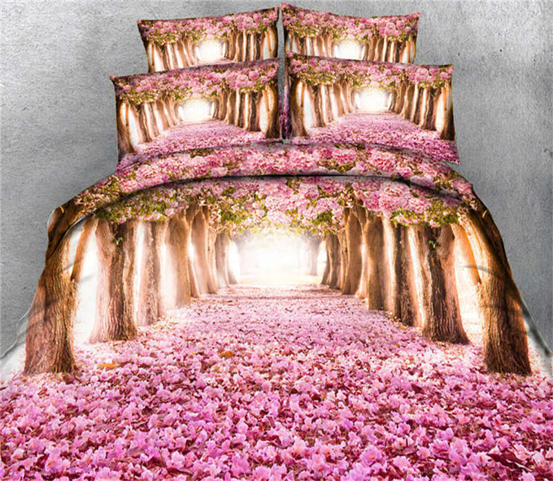 Ground Blossom 3D Printing Duvet Quilt Doona Covers Pillow Case Bedding Sets