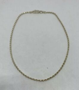 """925 Sterling Silver Snake Chain Anklet 1mm Round Anklet 9/"""" or 10/"""" Italy NEW"""