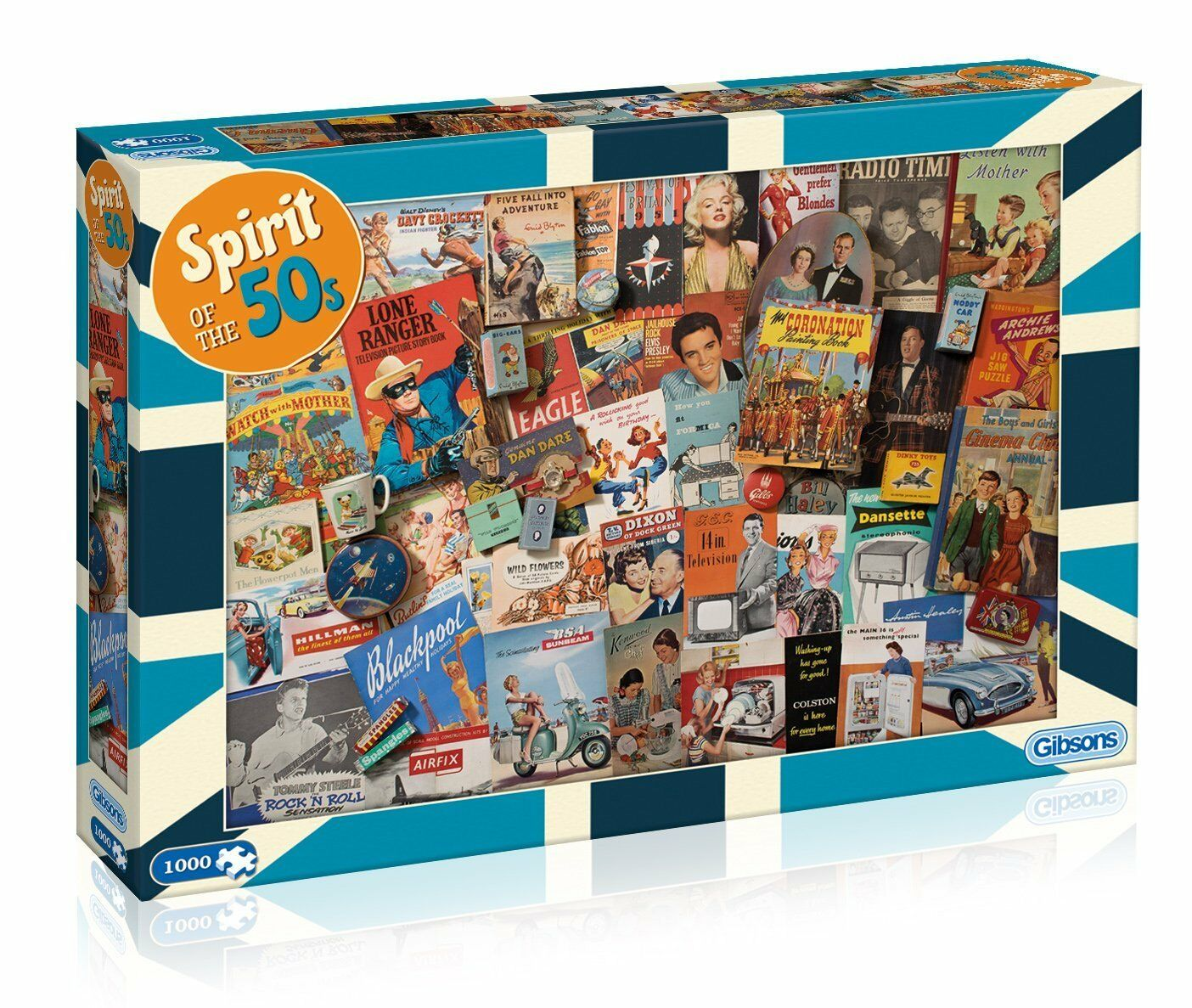 GIBSONS SPIRIT OF THE 1000 50s 1000 THE PIECE FIFTIES NOSTALGIA JIGSAW PUZZLE NEW G7081 5f0d93
