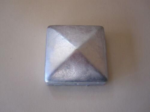 7 x Pfostenkappe verzinkt 10x10 cm Pyramide Abdeckkappe Holz Pfosten 101x101 mm