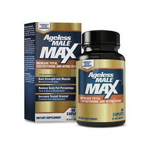 Ageless-Male-Max-Testosterone-Booster-by-New-Vitality-60-Caplets-FREE-Shipping