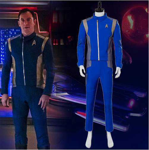 Star Trek Cosplay Kirk Enterprise Costume Archer Jumpsuit Uniform Suit Outfit