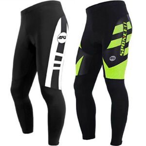 aefb3883a2b1f Image is loading Cycling-Pants-Men-Padded-MTB-Cycle-Legging-Tights-