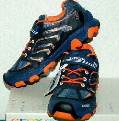 GEOX RESPIRA Sneaker Schuhe für Jungen Navy Orange Gr. 34 NEU m.KARTON   eBay xMDeA