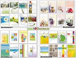 Konfirmationkarten,Grußkarten,Glüchwunschkarten,Klappkarten+Umschlag