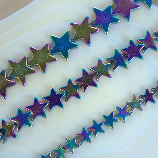 """Rainbow Hematite Star Beads 16"""" 6mm 8mm 10mm Pick"""