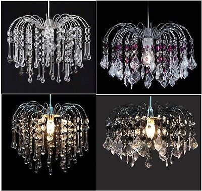 Dynamisch Acrylic Crystal Bead Chandelier Style Modern Ceiling Light Shade Droplet Pendant Uitverkoop Totale Korting 50-70%