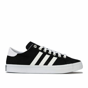 Homme-Adidas-Originals-Court-Vantage-Baskets-en-Noir-Blanc