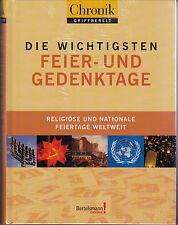 Die wichtigsten Feier-und Gedenktage Religiöse & nationale Feiertage >>OVP NEU<<