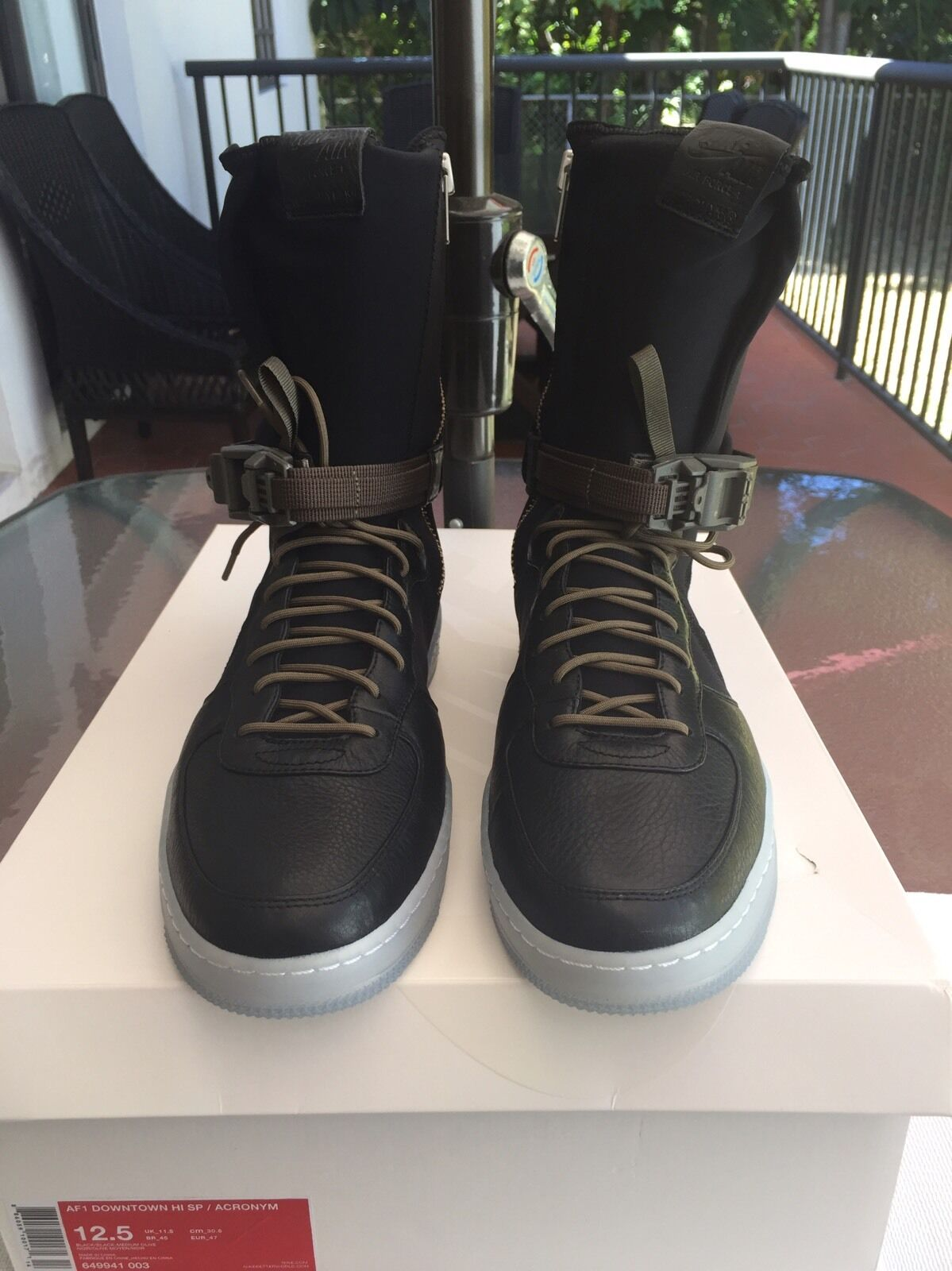 Nike af1 centro - 1 sp acronimo air force 1 - oliva nera 649941 003 sz 12,5 ed7d09