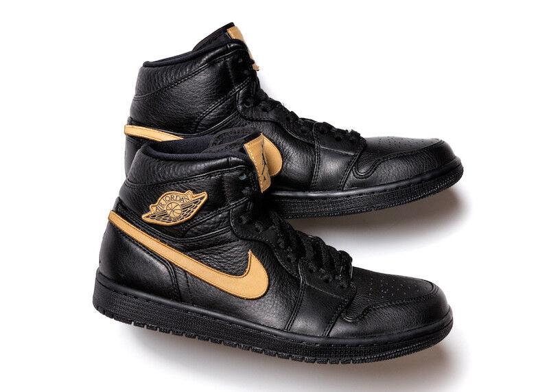 Nike Air Jordan 1 Retro BHM Noir HISTORY MONTH GOLD 908656-001  Chaussures de sport pour hommes et femmes