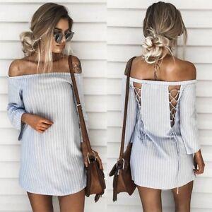 Off the Shoulder Backless Dress
