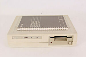 """Hewlett Packard HP 9114B 3.5"""" Disc Drive + Power Supply + Manual - For parts"""