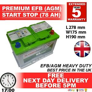 Bosch-Excide-EQ-AGM-Type-096-Battery-Audi-A1-Citreon-DS3-NISSAN-Quashqai-VW-Golf