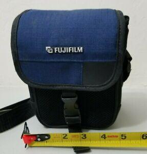 Vintage Fujfilm Film or Digital Camera Carrying Case Blue/Black *FREE SHIPPING*