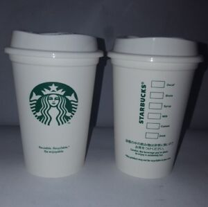 Details About Rare Starbucks 2017 Mini White Reusable Plastic Coffee Cup Tumbler Recyclable