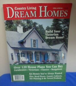 Details about Country Living Vintage Magazine 1994 Dream Homes House on home plan software, home plan collections, home plan kitchen,