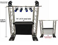 DJ Event Facade White/Black Scrims Aluminum Truss Booth 6.56 Arch truss System