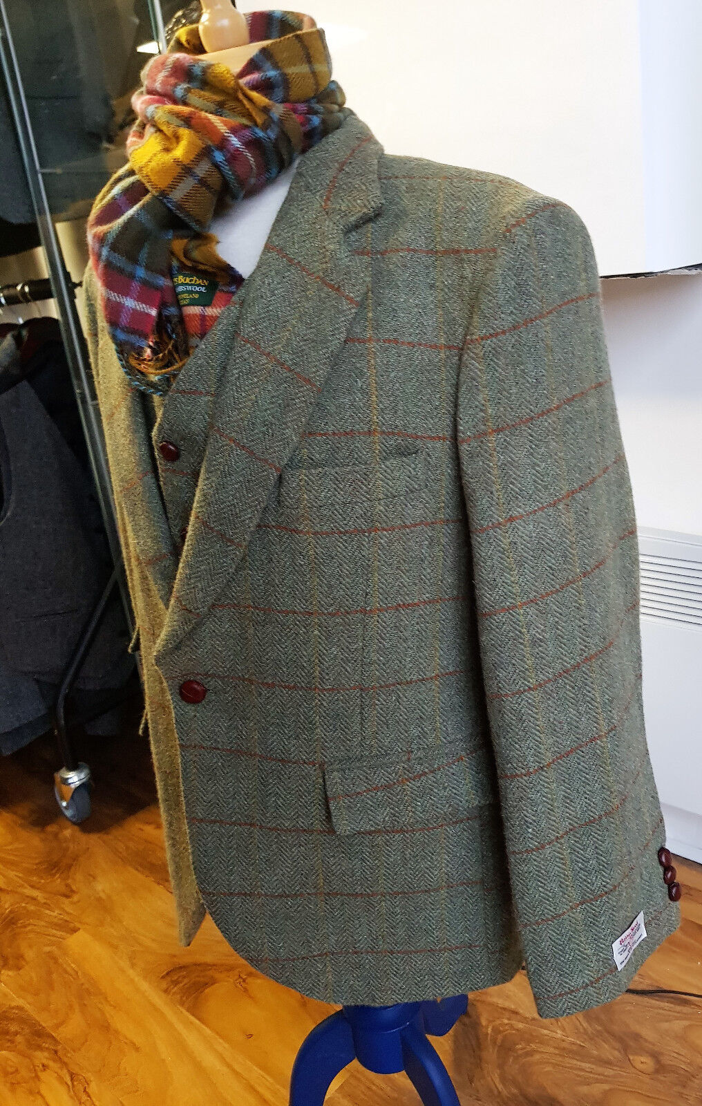 Orinsay Contemporary Style 100% Harris Tweed 5 button Vest Waistcoat Only