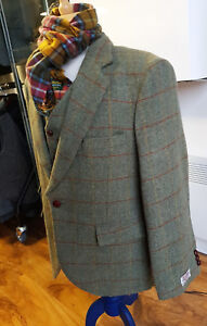 c060a13fd95 Image is loading Harris-Tweed-Orinsay-Contemporary-Blazer-Jacket-amp-Vest-