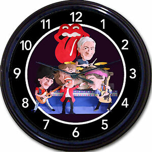 Rolling-Stones-Wall-Clock-Mick-Jagger-Keith-Richards-Ronnie-Wood-Charlie-Watts