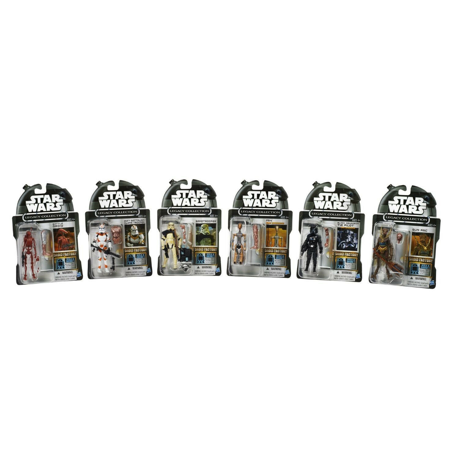 Star Wars Legacy Collection  Figurine Articulée Paquet de 6+1 Construis un Droid  en stock