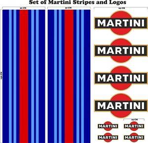 Le-Mans-Martini-Racing-style-Stripe-156cmx30-cm-Logo-Set-Sticker-decal-A648kkk