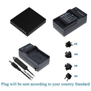 FS5 FX500S Charger Kits Lumix DMC-FS3 Battery CGA-S008 FOR Panasonic HM-TA1