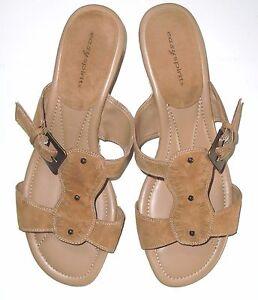 c0750f84b3 Easy Spirit woven sole backless wedge sandals sz .9.5 women's EUC | eBay
