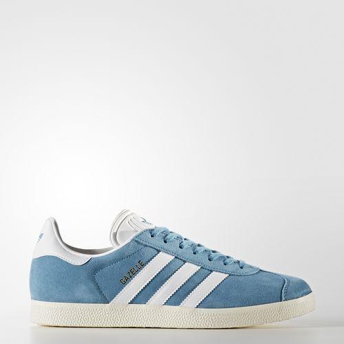 Adidas BZ0022 Men GAZELLE Running shoes blue white gold Sneakers