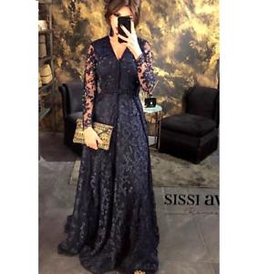 Details about Muslim Evening Dress Moroccan Kaftan 2018 Dubai Applique Formal dress
