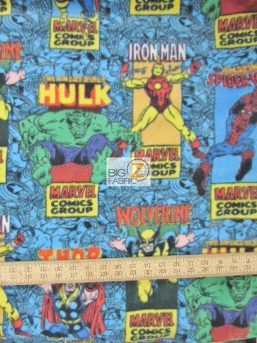 "Marvel Comic Posters 60/"" W SOLD BTP FH-108 MARVEL COMICS POLAR FLEECE FABRIC"