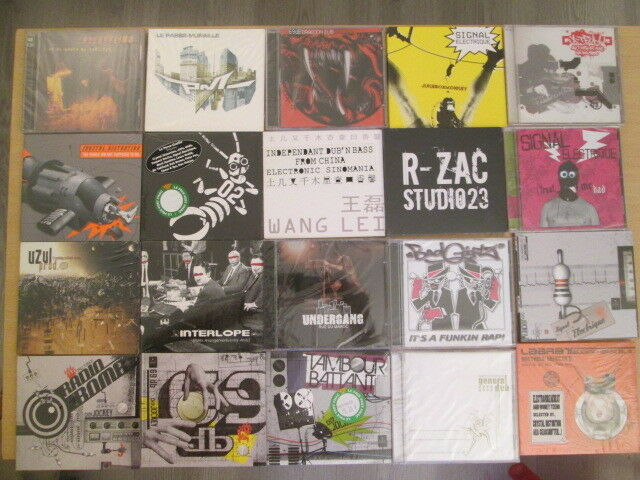 LOT 20 CDS TECHNO HARDTEK TRIBE  / SPIRAL TRIBE / NEUFS / SEALED / DESTOCKAGE