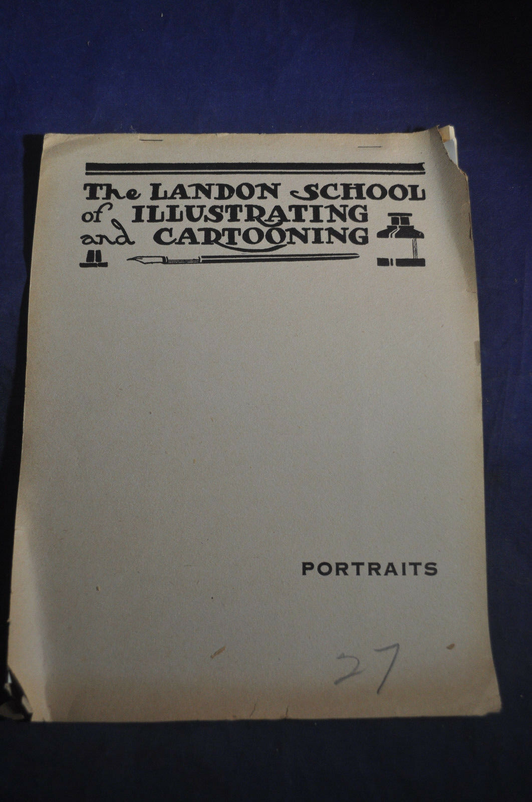 Ca 1918 *RARE EARLY* The Landon School of Illustrating & Cartooning, Portrai... 2