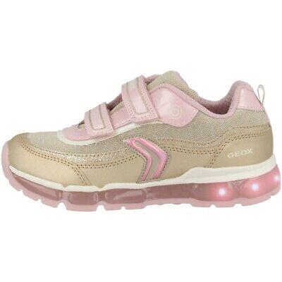 Sammlung Hier Geox J Android G. A Gs Schuhe Led Kinder Sneaker Platinum Pink J9245a0ajasc2ue8 Feine Verarbeitung