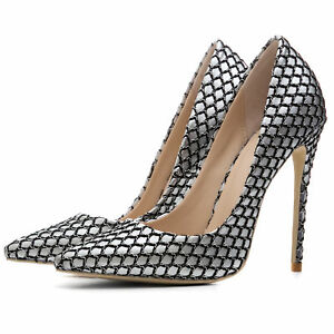 online store 12021 dda24 Schick Schuhe Damen Pumps Stilettoabsatz High Heels Spitz ...