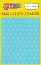 Carta Bella STAR Background 5x6 Embossing Folder A2 Toy Box CBTB66031