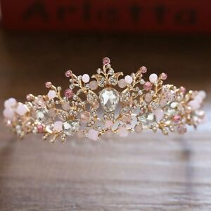 Lovely-Baroque-Flower-Crystal-Crown-Tiaras-Bridal-Headband-Wedding-Hair-Jewelry