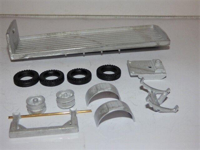 PROMOD Camion Kit-articolato FLAT BED Rimorchio Ad Asse Singolo KIT SCALA 1:43