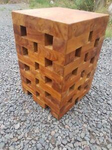 teak root solid wood Jenga side table lamp table stool ...